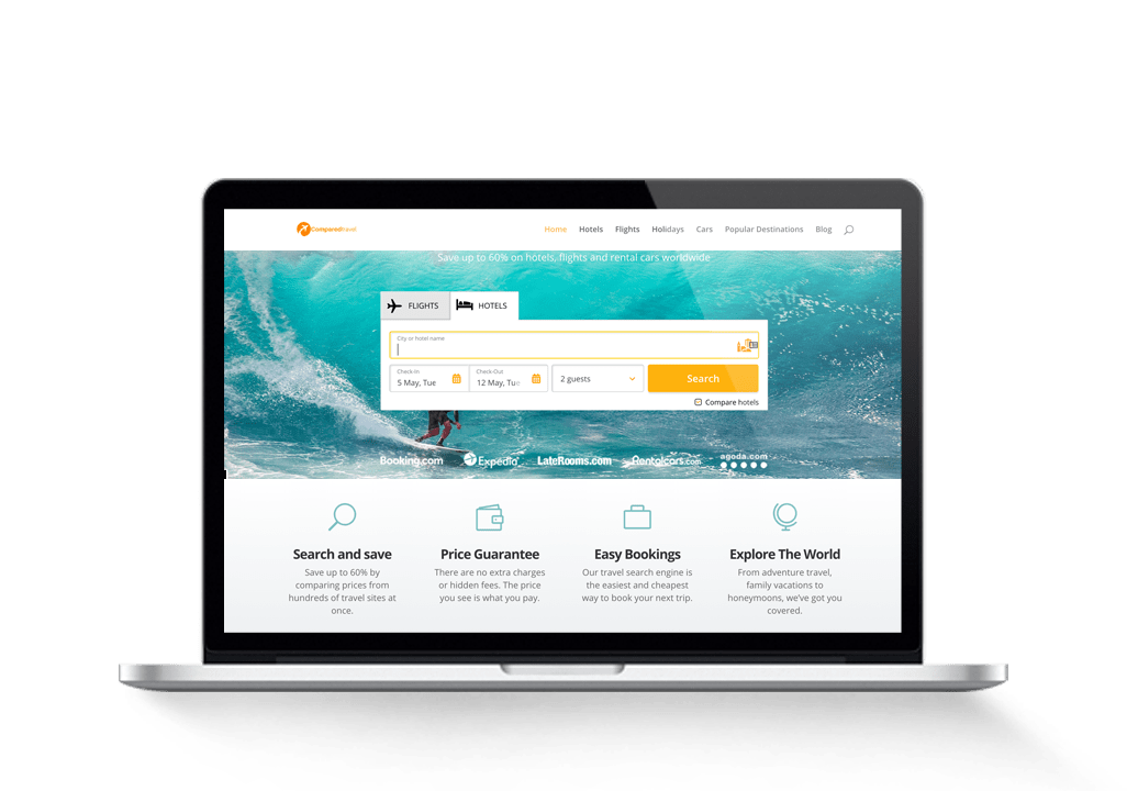 Sold: Affiliate Travel Booking Website With Comparison Hotel & Flight Deals 1
