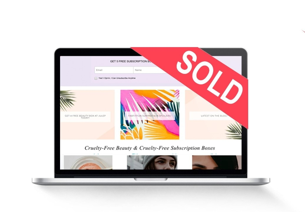 sold beauty-blog-for-sale