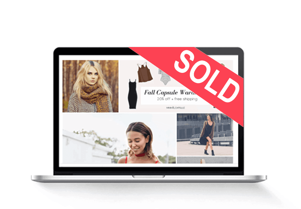 sold womens fashion dropshipping website for sale