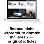 Personal finance blog for sale with 75 original articles related to money saving, making, spending, economy and financial tips and premium domain #buywebsites #blogsforsale BlogsForSale