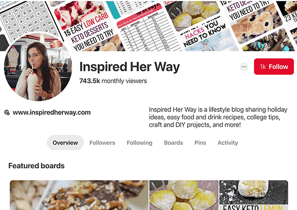 lifestyle blog for sale pinterest account for sale
