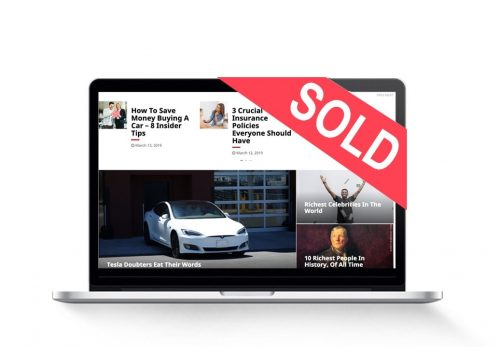 personal finance blog sold