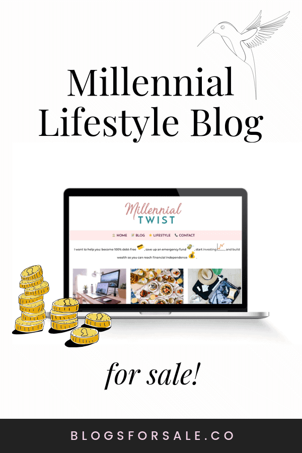 Millennial lifestyle blog for sale with premium #Genesis #wordpresstheme includes #Pinterest account email #subscribers and more! @blogsforsale #blogsforsale #blogforsale #lifestyleblog #invest #buyabusiness #becomeablogger #buywebsites #blogging #blogger #buyablog #lifestyleblogforsale BlogsForSale.co