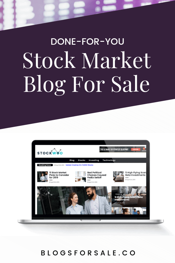 stocks blog for sale - trading tips done fo you website buy niche blogs
