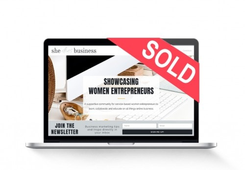 women entrepreneur blog for sale sold-mac