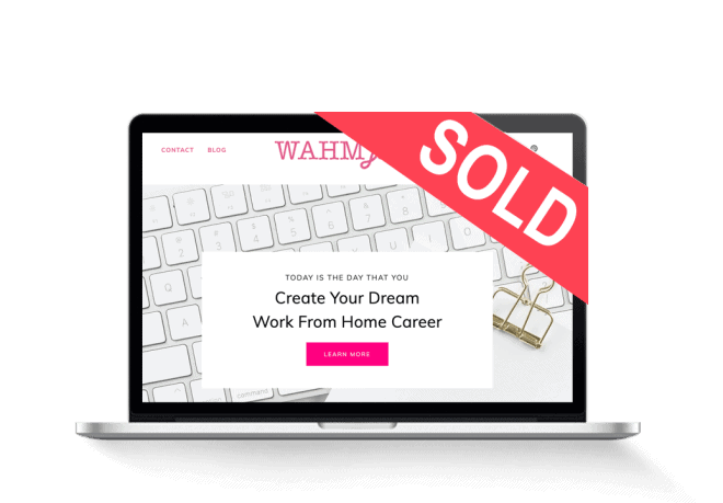 Work At Home Mom Jobs - Personal Finance Blog With Exact-Match Domain 1