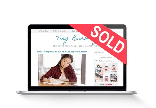 starter wellness lifestyle blog sold