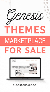Genesis WordPress Themes marketplace business For Sale