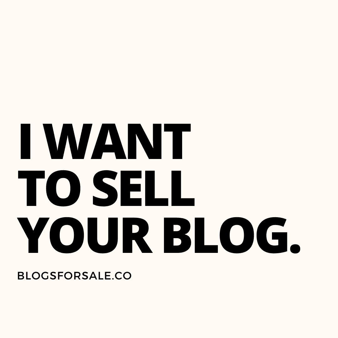 How much is my blog worth? how to sell your website