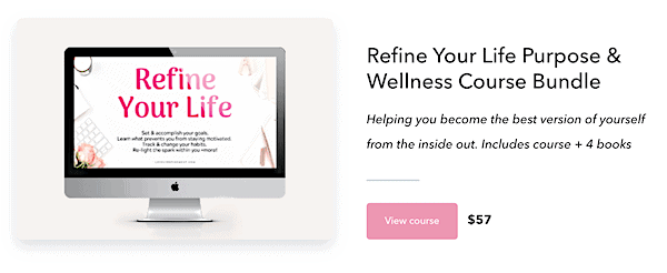 mental wellness blog for sale earning 4 figures course