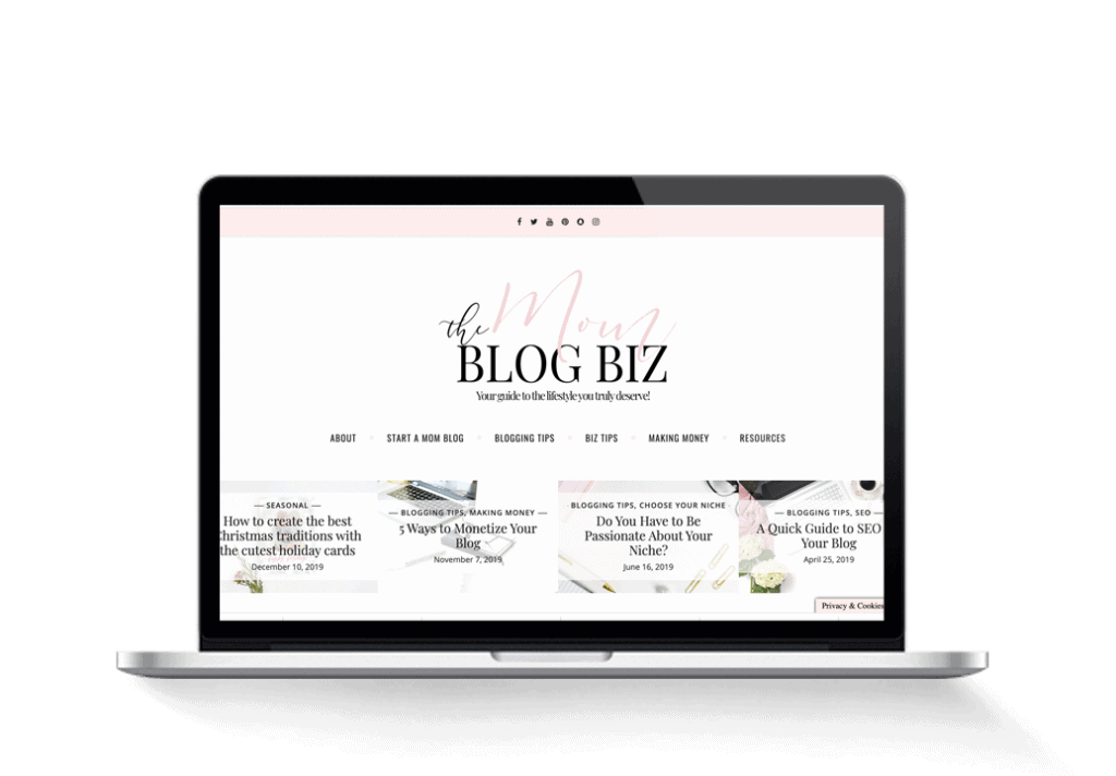 mombiz blogging and money tips blog for sale