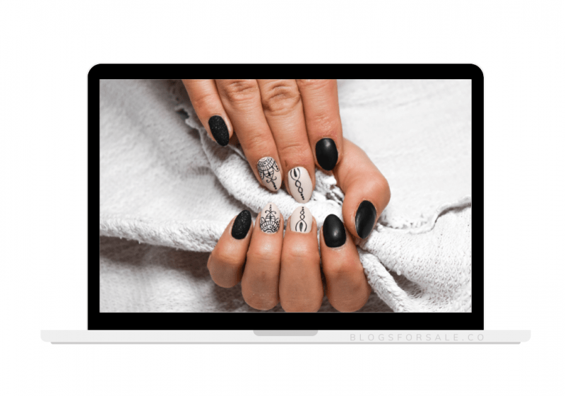 nail art tattoos niche site for sale