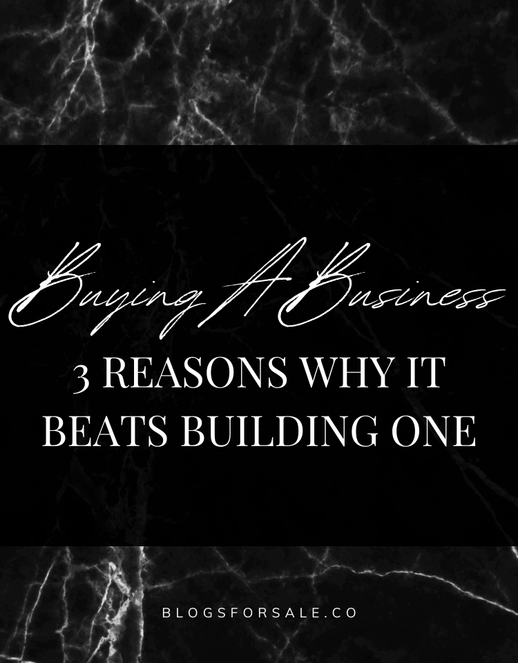 8 reasons why buying your next business beats building one
