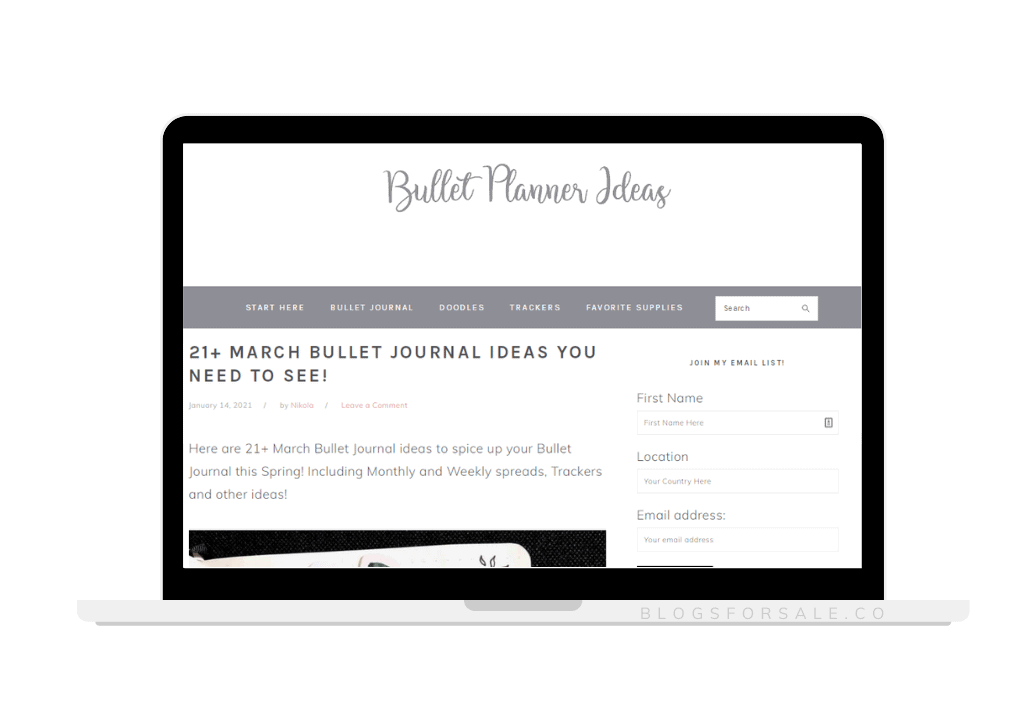 Profitable Bullet Journal Blog