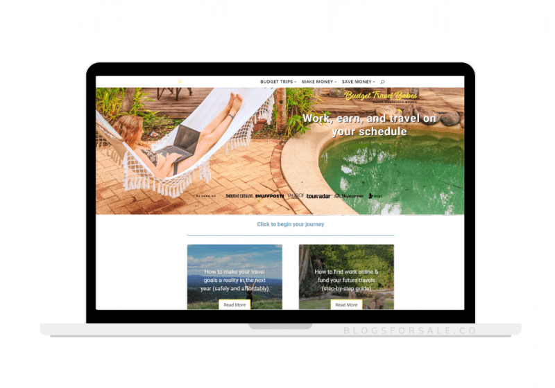 budget travel site for sale
