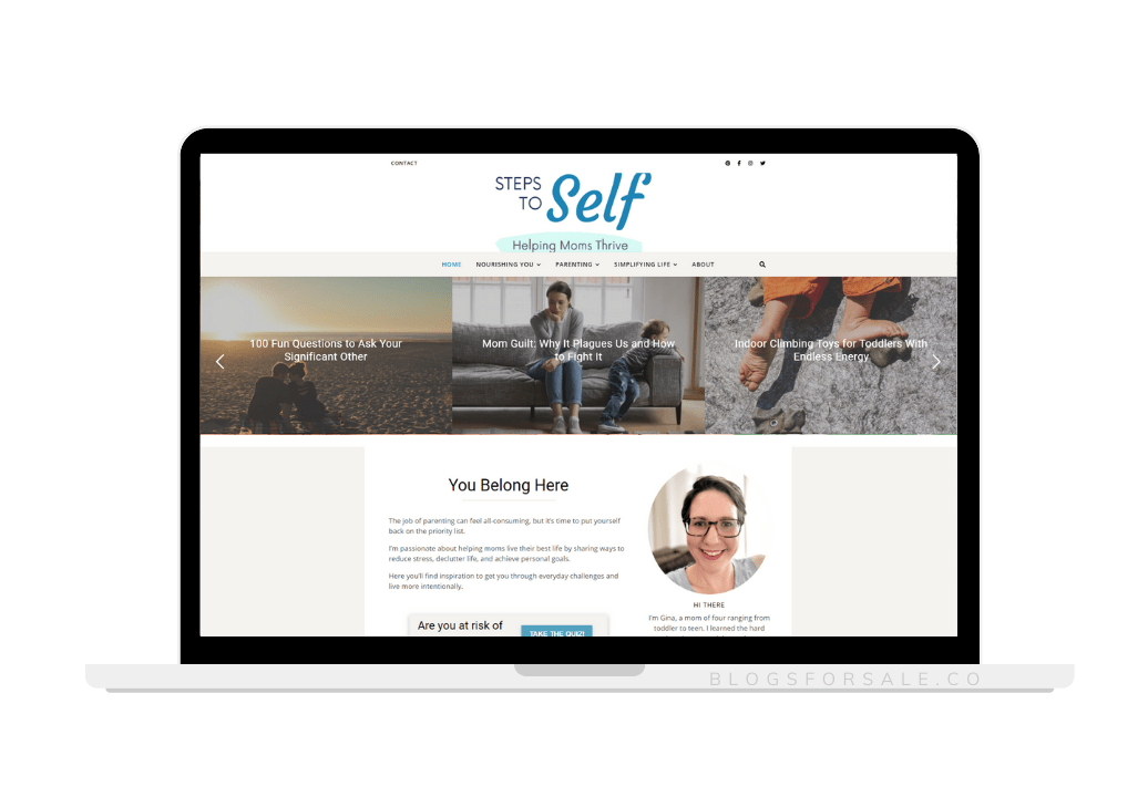 Step to self parenting niche site for sale
