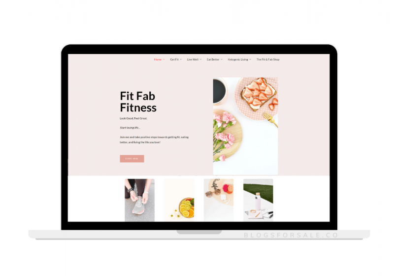 fitness and healthy living site for sale