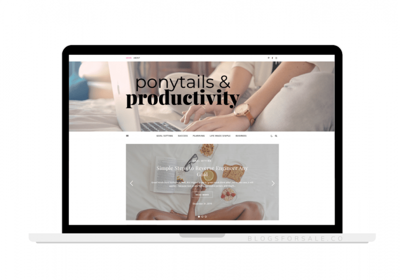 planning and productivity site for sale