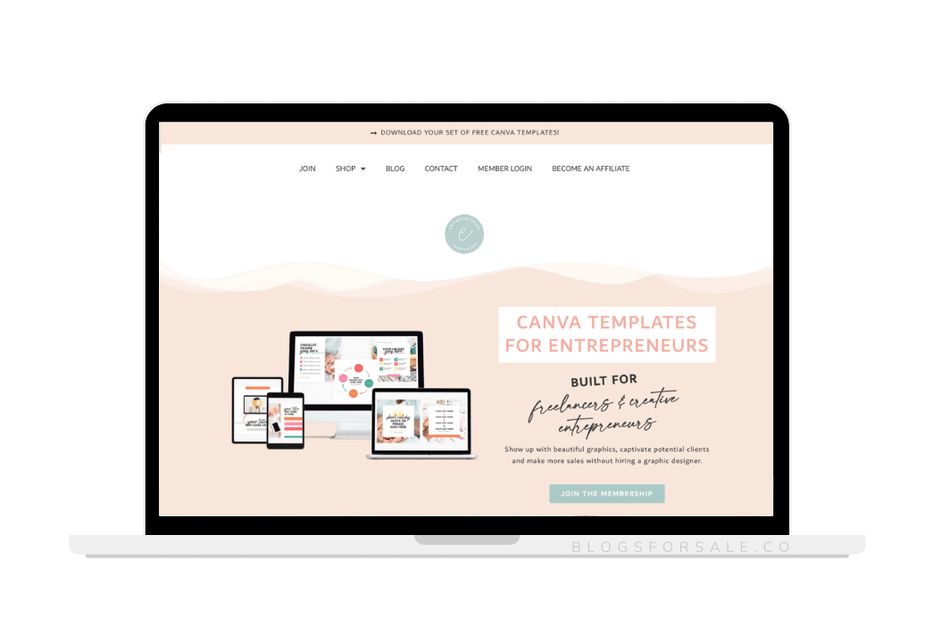 Canva template business for sale