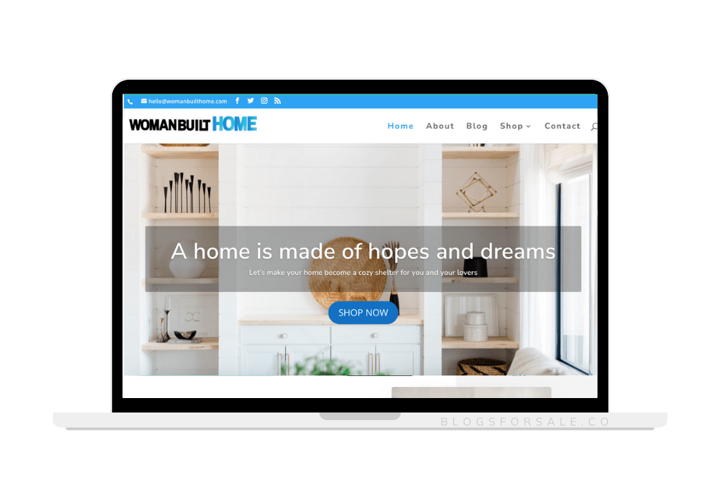 home management niche site for sale