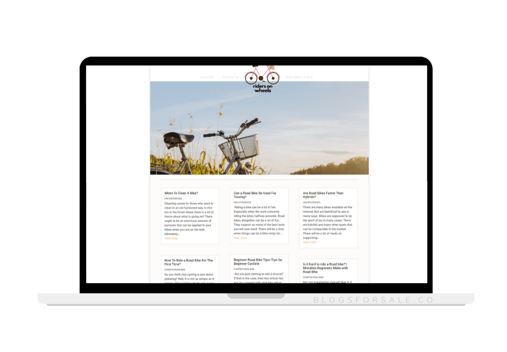 Cycling Niche Site For Sale