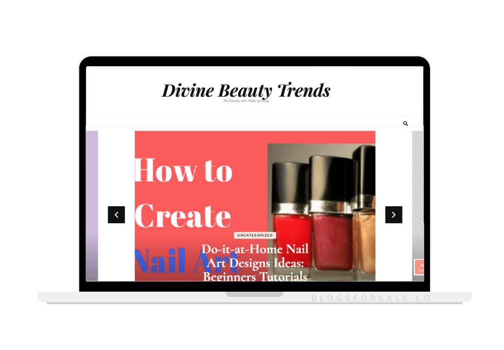 beauty and makeup niche site for sale